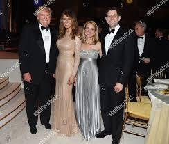 Candle Light Dinner In Dc Donald Trump Melania Trump Janna Ryan Paul Editorial Stock