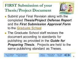 The graduate thesis