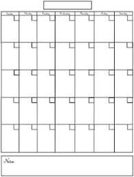 Printable Blank Calendar Template … | Organizi…