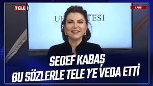 Sedef Kabaş Tele1 TV'den ayrıldı: Dargınlık kırgınlık yok, fikir  ayrılıkları nedeniyle!