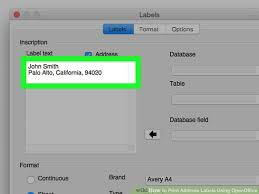 Avery Label Templates For Openoffice How To Print Address Labels Using Openoffice With Pictures
