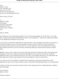 Sample Cover Letter For Management Maintenance Resume Cover Letter