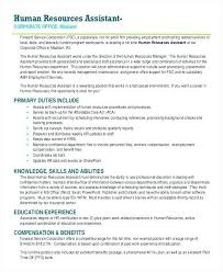 Hr Assistant Resume Sample From Beste Entry Level Human Resources
