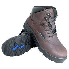 genuine grip 651 poseidon women s brown waterproof composite toe non slip full grain leather boot