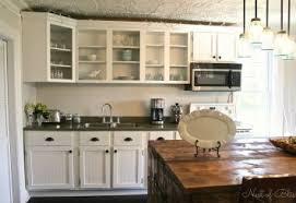 blue kitchen backsplash dark cabinets. Country Look Kitchen Cabinets Blue Backsplash Dark