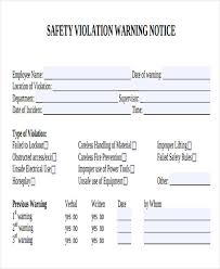 notice of violation template safety warning letter template 9 free word pdf format download