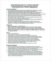 Business Analyst Resume Sample Amazing Project Analyst Resume Sample Senior Business Analyst Resume Free