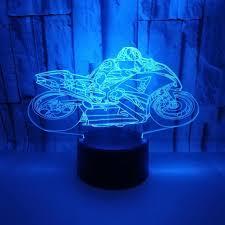 Xe Mô Tô Mô Hình 3D Cảm Ứng Đèn Ngủ Nhiều Màu Sắc Thay Đổi Ảo Ảnh Đèn LED  Tặng Trang Trí Phòng Khách Đèn Đèn LED ban đêm