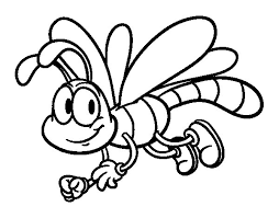 Small Picture Happy dragonfly coloring page Coloringcrewcom