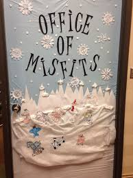 christmas office door decorating. contemporary christmas christmas door decorated rudolph and the island of misfit toys in office door decorating m