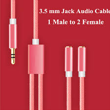 online get cheap 3 5 mm audio jack wiring aliexpress com 3 5 mm jack aux audio nylon cable 1 male to 2 female headphone splitter y extension