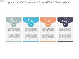 Powerpoint Template Research Implication Of Research Powerpoint Templates Graphics