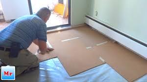 how to install cork underlayment for laminate flooring installation mryoucandoityourself