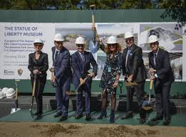 statue of liberty getting new m museum set to open in ny  fashion designer diane von furstenberg is joined by sponsors and dignitaries at the groundbreaking ceremony for the new statue of liberty museum thursday