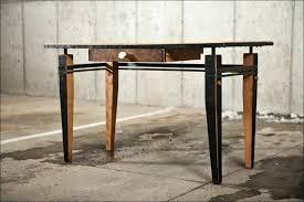 industrial office desk. Industrial Office Desk Living Rough Wood Rustic Furniture Home .