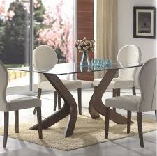 great rectangular glass dining table set top room extraordinary idea on wood with base canada chrome