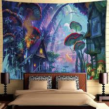 Find pinboards, mirrors, and more dorm wall decor at pottery barn teen. Amazon Com Inthouse Psychedelic Forest Tapestry Wall Hanging Magic Land Tapestry Wall Decor For Bedroom College Dorm Room Home Kitchen
