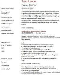 Sample Director Of Finance Resume Sample Finance Resume 11 Examples In Word Pdf
