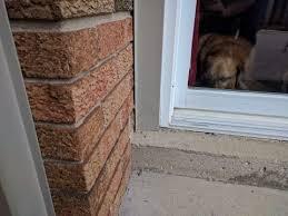 how to fix a sliding glass door leak