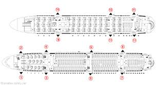 Airbus A380 Seating Chart Asiana Aviation Safety Network Airline Safety Emergency Exits