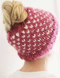 Messy Bun Beanie Knitting Pattern Simple Inspiration