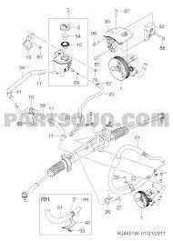 9 49510 steering gear power steering pipe line ii 4951