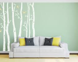 more colors birch tree wall sticker silver  on silver birch wall art stickers with tree decals etsy