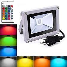 10w color changing outdoor spotlight with remote control ip65 waterproof wall washer light 16 colors 4 modes dimmable stage lighting with us 3 plug