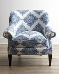 blue and white chair. Shop Blue Roxi Chair At Horchow, Where You\u0027ll Find New Lower Shipping On Hundreds Of Home Furnishings And Gifts. White I