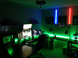 cool room lighting. witching cool gaming computer desk amazon ideas with red blue led light mounted on the wall room lighting