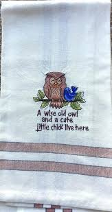 embroidered kitchen towels tutorial humorous