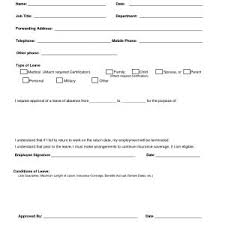 Leave Application For Job Format Best Employee Leave Request Form ...