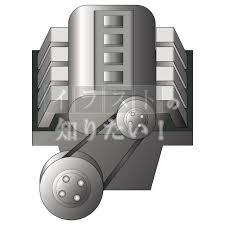 ワンポイントイラストエコカーの仕組み エンジン イラスト無料