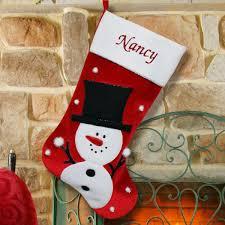 snowman christmas stockings. Plain Snowman Personalized Red Velvet Snowman Christmas Stocking On Stockings Y