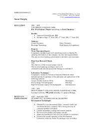 Resume Food Science Sample Science Resume Examples 20 The Best Computer  Sample Collection How