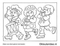 Kleurplaat Optocht Thema Muziek Kleuteridee Preschool Coloring