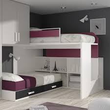 Ceiling Beds Bedroom White Grey Modern Stained Solid Wood Bunk Bed Ceiling