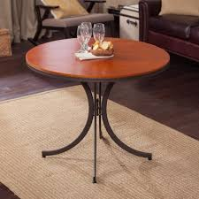 meco innobella destiny 36 in round wood folding table mission rosso modern indoor pub and bistro tables by hayneedle