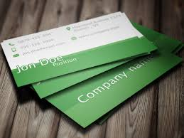 Green Card Template Simple Green Business Card Template Business Cards Lab