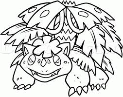 Small Picture Pokemon Coloring Pages Venusaur Coloring Pages
