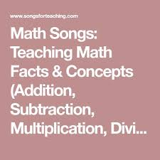 best maths algebra ideas algebra algebra help  math songs teaching math facts concepts addition subtraction multiplication division