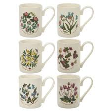 portmeirion botanic garden coffee mug set 6pce