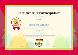 Certificate Completion Template Children Stock Illustrations