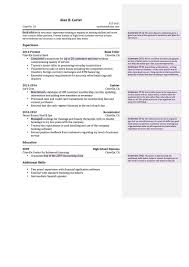 Funky Banker Resume Summary Image Documentation Template Example