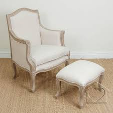 Listers Bedroom Furniture French Shabby Chic Beige Marie Armchair Footstool Alb53000 A