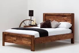 Wooden Double Bed With Drawer Designs Chester Acacia Wooden Bed Frame Rustic Java Double King Size