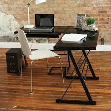 walker edison glasetal corner computer desk multiple colors com