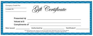 Gift Certicate Template Gift Certificate Templates Word Excel Fomats
