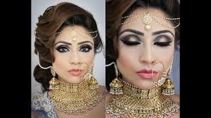 beautiful bridal makeup tutorial smokey eye makeup for indian stani arabic bengali brides