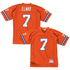 Throwback Nfl Broncos Replica Elway Trikot Orange John Denver